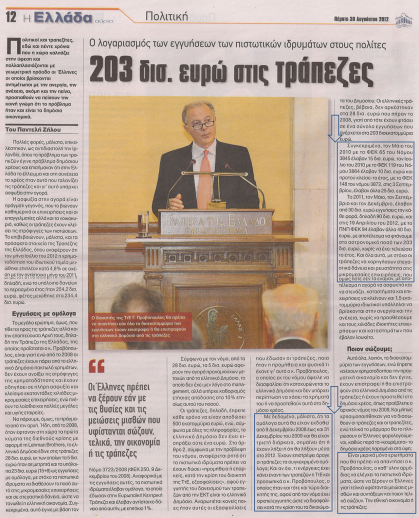 O Καζάκης και τα 233.000.000.000 € των τραπεζών.