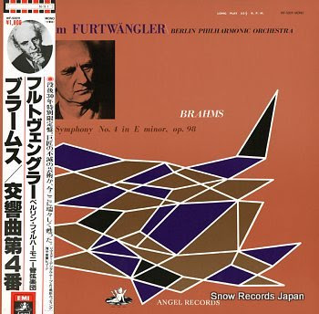 FURTWANGLER, WILHELM brahms; symphony no.4 in e minor, op.98