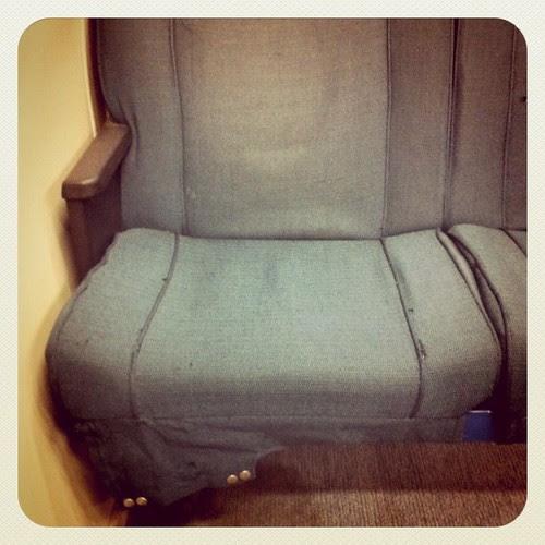 BART seats. Nasty.