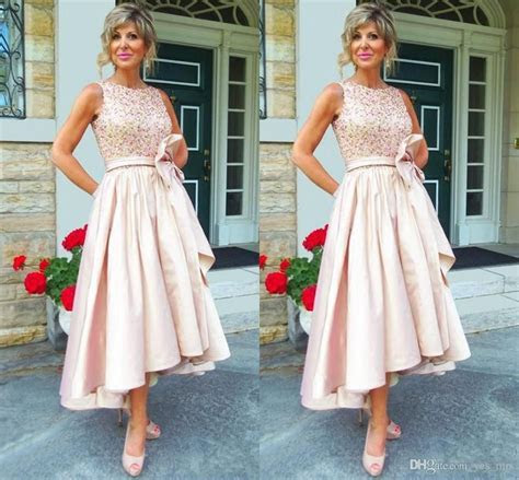 2018 Cheap Vintage Mother of the bride Dresses Jewel Neck
