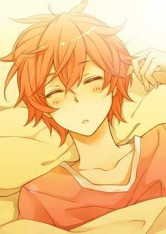 Anime Boy With Orange Hair And Orange Eyes
