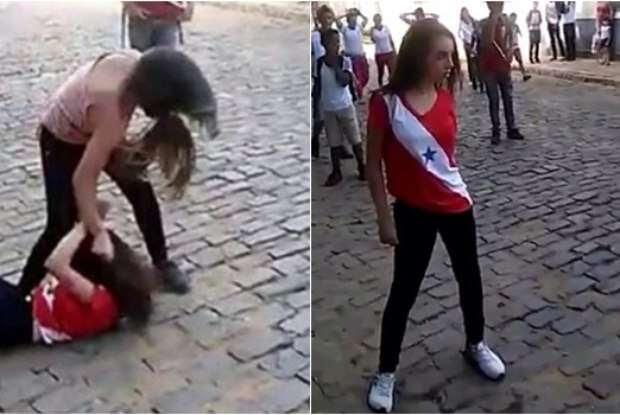Briga entre adolescentes se torna viral na internet