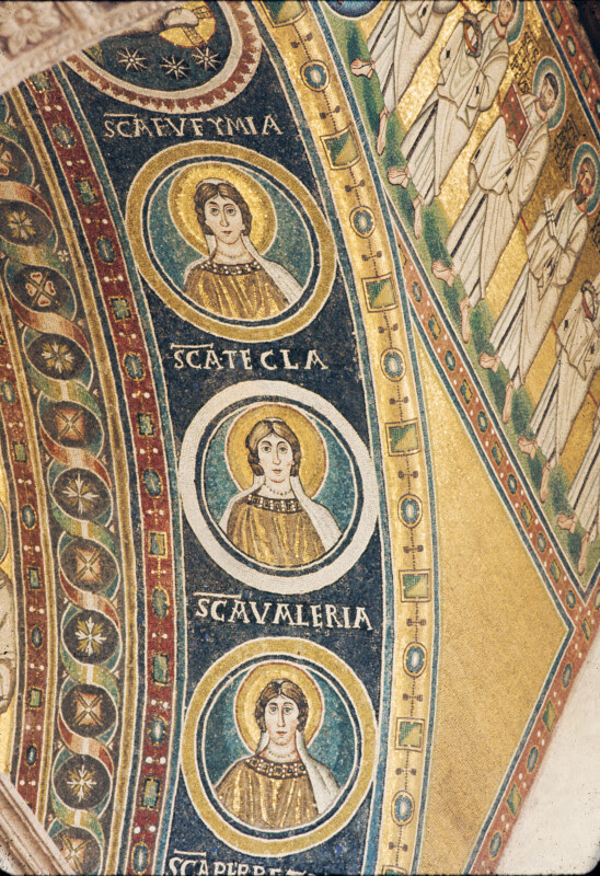 http://etc.usf.edu/clippix/pix/Pore-Cathedral-of-Eufrasius-mosaic-triumphal-arch-medallions-of-Sts-Euphemia-Thecla-and-Valeria-on-intrados-right-side_medium.jpg