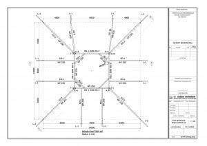 Gambar Desain Autocad Las Atap Kubah Rangka Struktur Space Frame