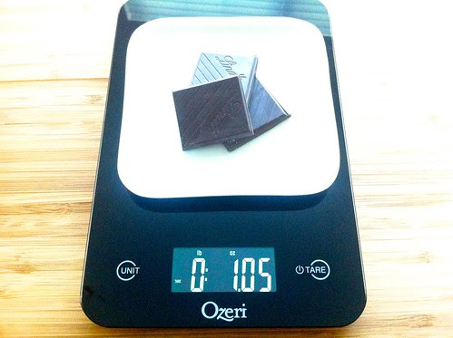 Measuring Chocolate on Kitchen Scale