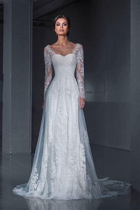 1000  ideas about Long Sleeved Wedding Dresses on