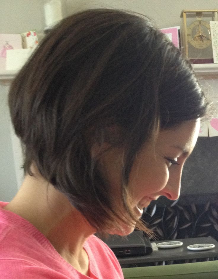 Angled bob behind the ear | Angled Bobs & Ombre | Pinterest