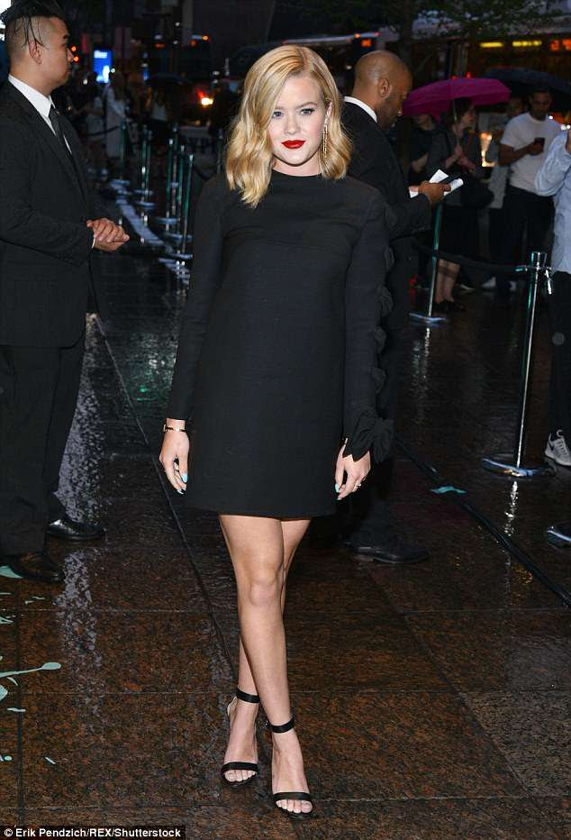 Mini-me: Reese Witherspoon's mini-me daughter Ava Phillippe rocked a black dress