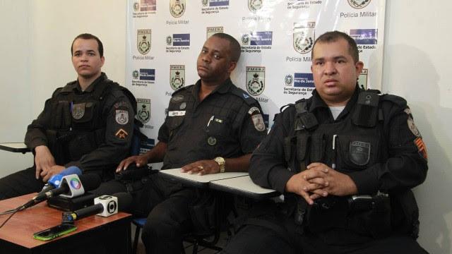 Apresentaçao coletiva dos PMs que prenderam o coronel suspeito de pedofilia