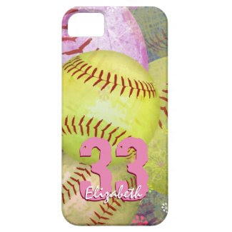 Girls Softball iPhone SE case