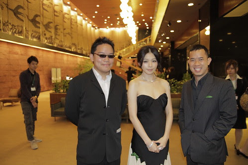 With Vivian Hsu, before the Green Carpet event