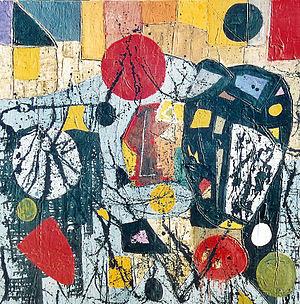 Alberto Baumann Introspezione 2003 cm 100x100