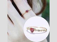 Aliexpress.com : Buy Cute Dainty Women's Gold PlatedHeart shaped Drill Rings Delicate Rings