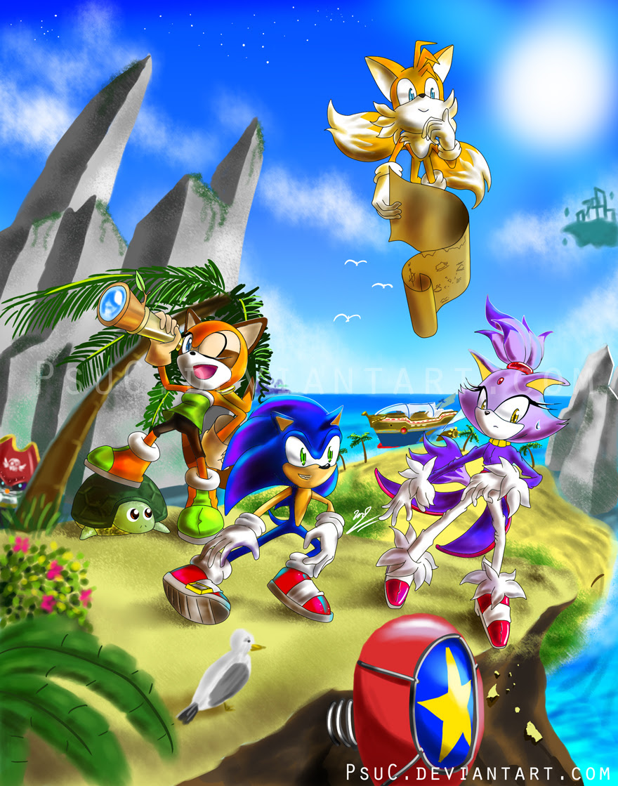 Sonic Rush Images Exploration Crew Hd Wallpaper And Background