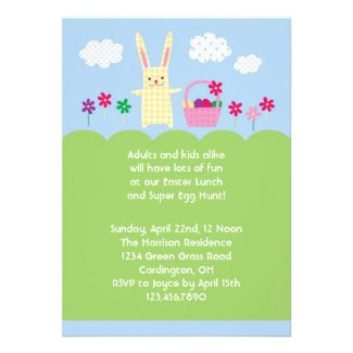 Easter Bunny Invitation