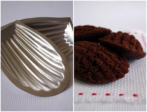 Chocolate cinnamon madeleines / Madeleines de chocolate e canela