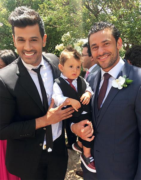 """Fabricio Gonçalves: """"Casamento do meu irmão @fredguedes9! Que Deus continue abençoando sua vida. Te amo meu irmão!"""""""