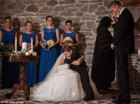 bride recites vows   grooms     stepson