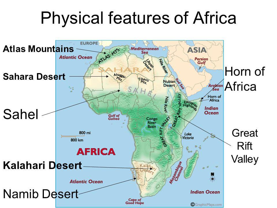 sub saharan africa physical features map 25 Beautiful Africa Physical Features Map sub saharan africa physical features map