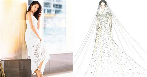 Designer Sketches For Meghan Markle?s Wedding Dress