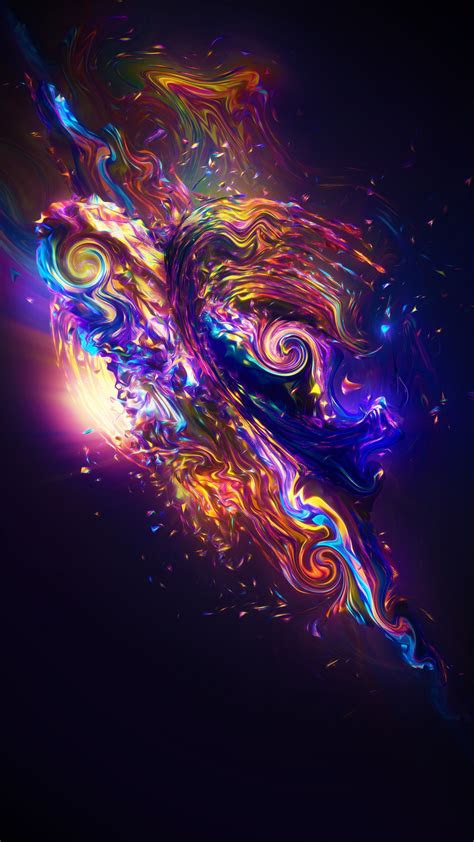 wallpaper carnival render colorful fractal neon sci fi  abstract  wallpaper