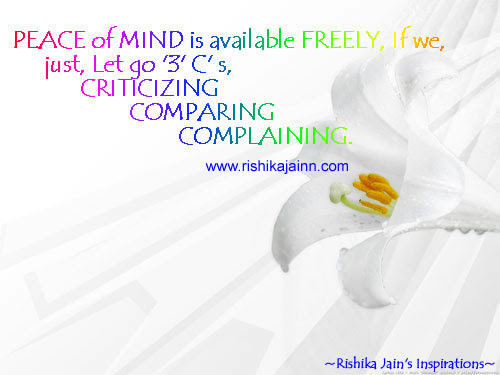 Excellent Quote Peace Of Mind Is Available Freely Inspirational