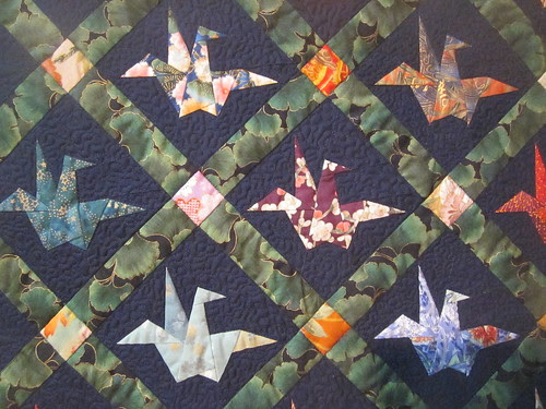 """""""Carrie's Happy Birthday Quilt"""" by Phyllis Wormington and Russ Clelland, close up"""