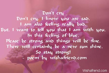 Dont Cry Sympathy Poem