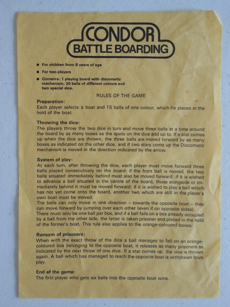 Battle Boarding - the rules sheet