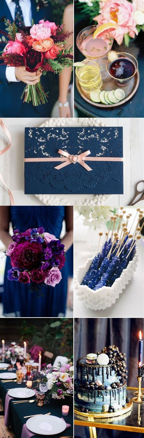 Quotes About Wedding : Navy Blue Jewel Toned Fall Winter