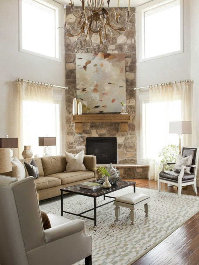 Arranging Furniture With A Corner Fireplace - Brooklyn ...