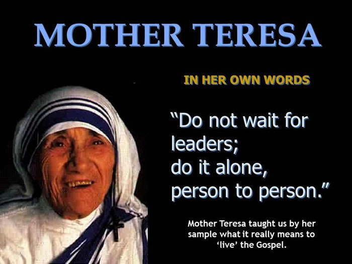 Fantastic Words Of Mother Teresa Spirituality Babamail