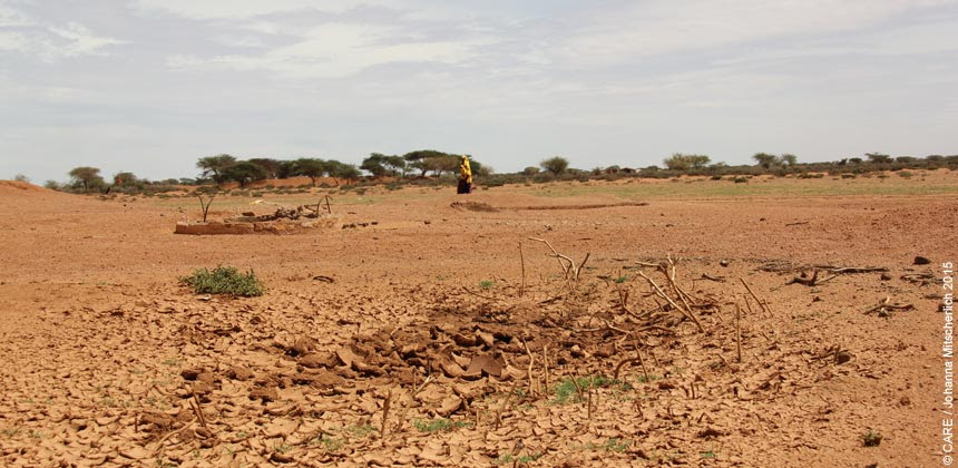 Drought-cracked earth in Somaliland