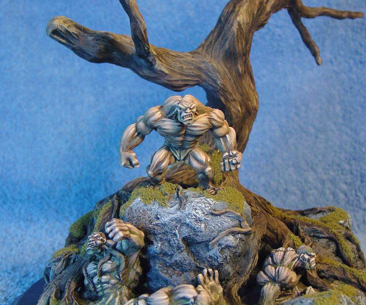 James Wappel Miniature Painting Clay Golem Pit Diorama