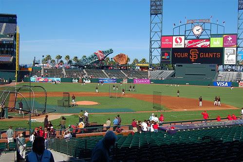 Giants v. Reds: Batting Practice