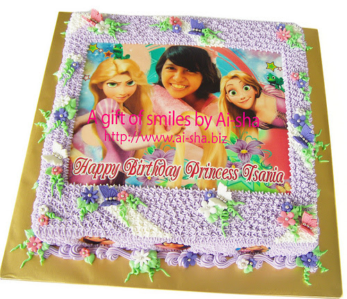 Birthday Cake Edible Image Rapunzel