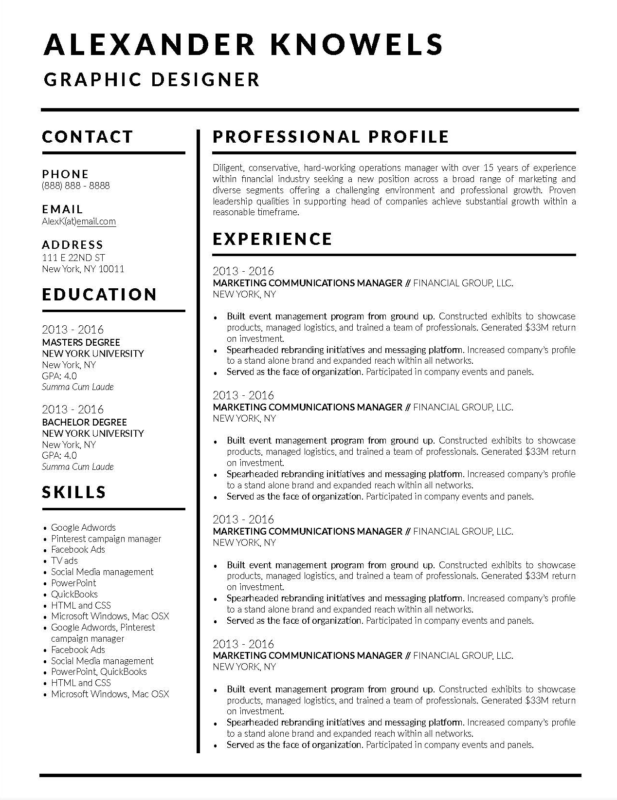 25 Fresh Great Looking Resume Templates - BEST RESUME EXAMPLES
