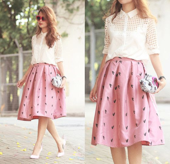 In love with midi skirt. *o*