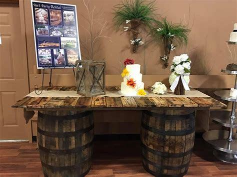 Rustic Barrel Table Rentals Cincinnati, Dayton Ohio  A&S