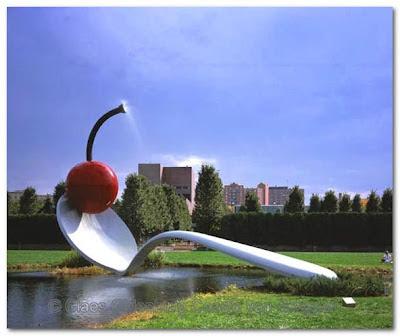 Claes Oldenburg and Coosje van Bruggen installations