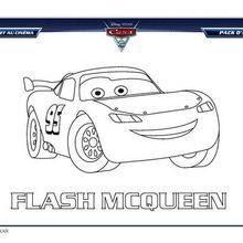 Coloriages Cars 2 Flash Mcqueen à Colorier Frhellokidscom