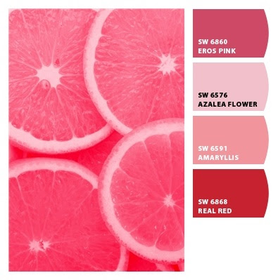 pink grapefruit colors from Chip It! by Sherwin-Williams