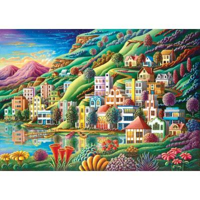 Puzzle Hidden Harbor Art-Puzzle-4641 1500 pieces Jigsaw ...