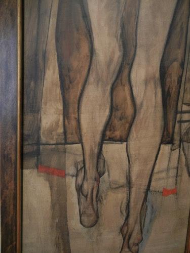 DSCN0908 _ Rückenansicht eines weiblichen Halbaktes mit Tuch (Fragment) (details), 1913, Schiele
