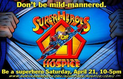 Superheroes for Hospice promot