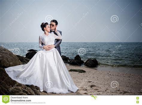 Japanese Couple,Asian Couple, Wedding Couple Stock Photo