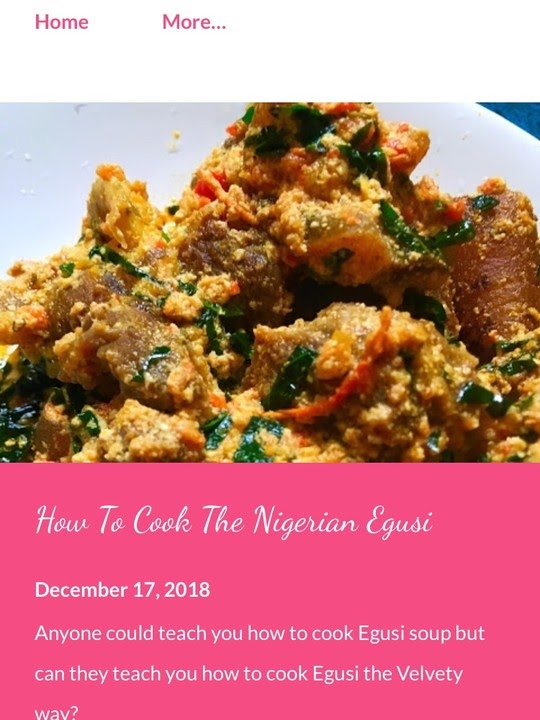 HOW TO COOK A GOOD Nigeria EGWUSI SOUP