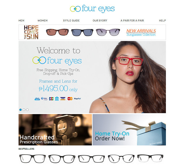 Four Eyes the first online optical store in the Philippines