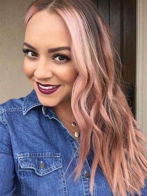 top  rosa haar farbe ideen trend frisuren stil