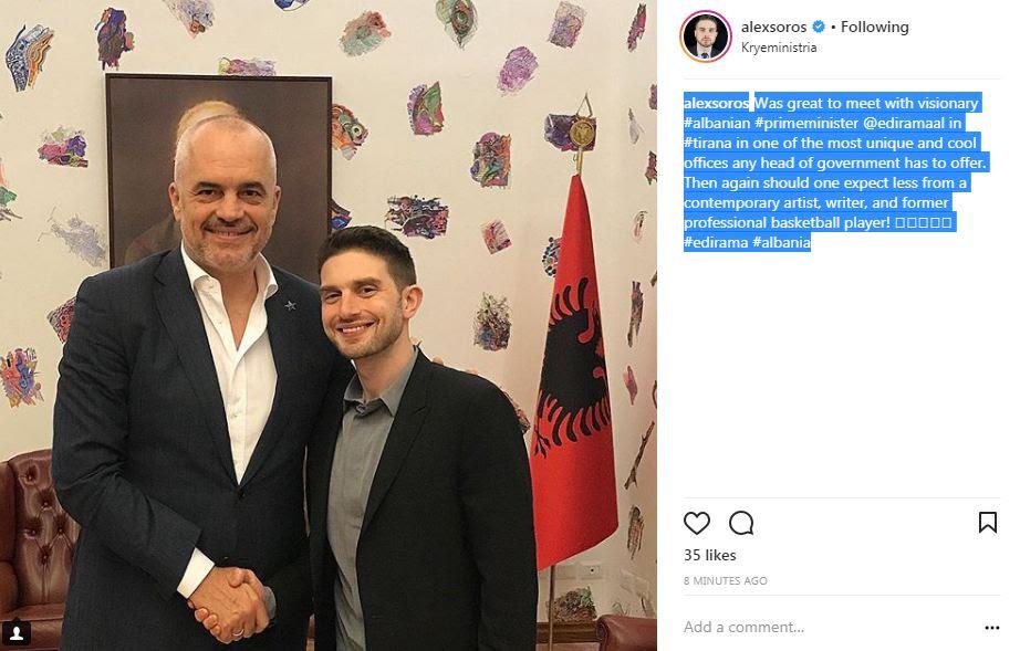 Αποτέλεσμα εικόνας για Alex Soros in Albania